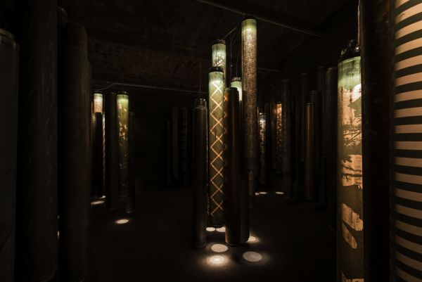 Fabric print cylinders, 2013