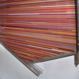 The polychromesandsessions (# 2, red silica with constructions tones), 2010