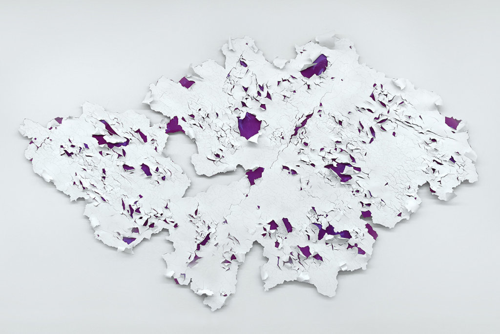Peeling paints (Purple I) 2016