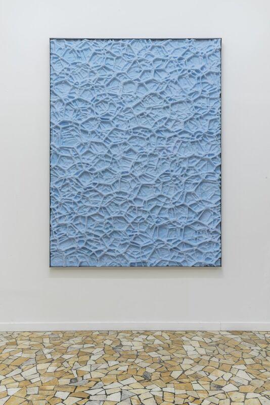 µgraph reliefs, Aluminium Foam (sky blue), 2018