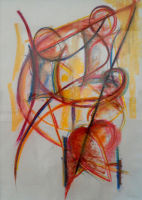 Mother & Two Sons - pastel - 3