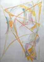 Mother & Two Sons - pastel - 8