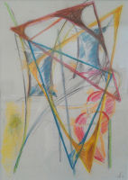 Mother & Two Sons - pastel - 7