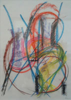 Mother & Two Sons - pastel - 6