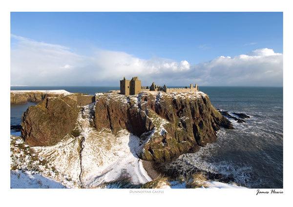 Dunnottar Castle in winter 2