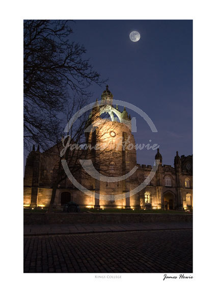 Kings College by moonlight