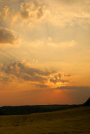 Sunset over Chilworth