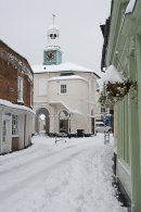 The Pepperpot in Godalming in the snow