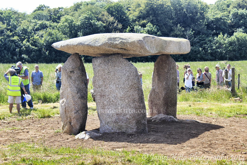 Carwynnen Quoit stands once more!