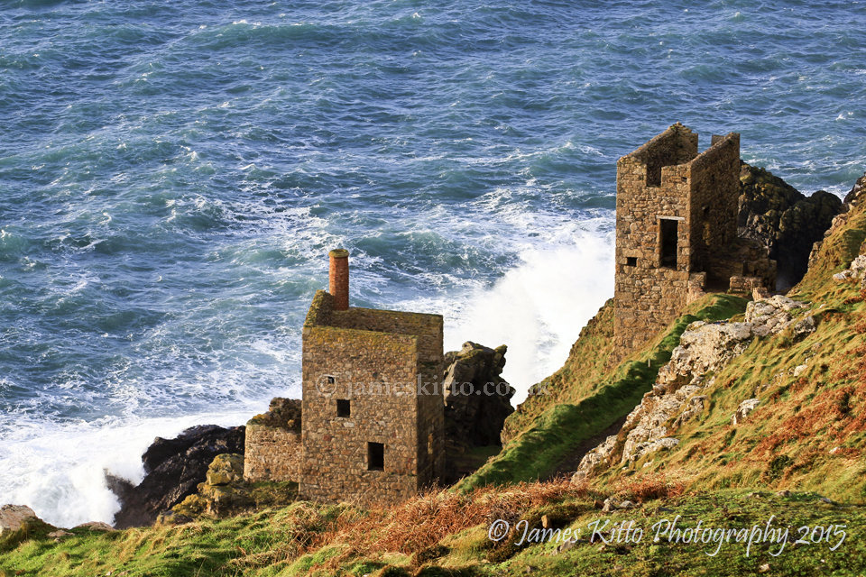 The Crowns, Botallack - in winter sunshine