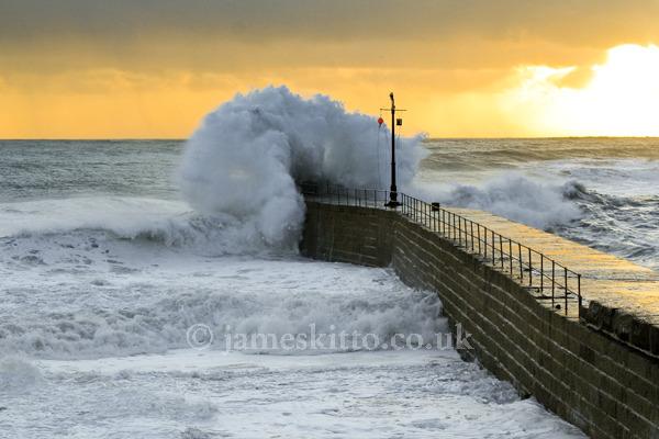 Evening Waves, Porthleven