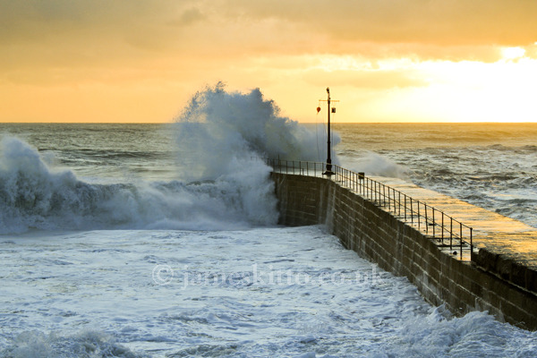PIER AT SUNSET, PORTHLEVEN