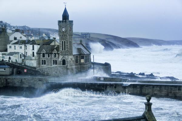 Stormy sea, Porthleven