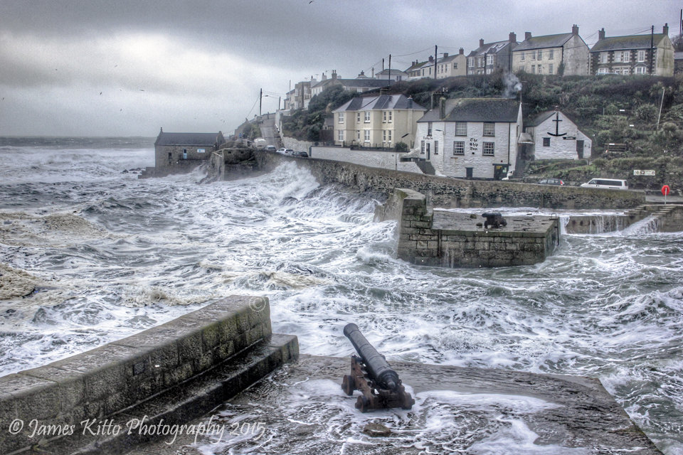 Stormy harbour, Porthleven