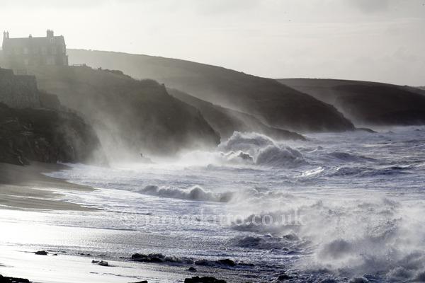 Sormy seas at Porthleven