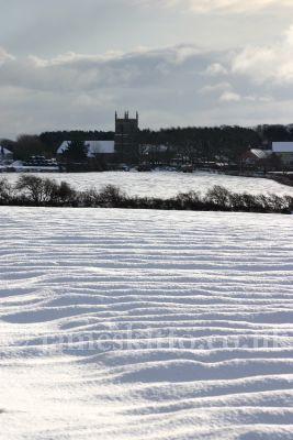Snowy fields, Wendron