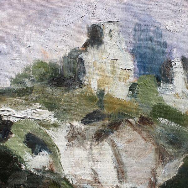 Landscape oil painting study detail James P McAteer