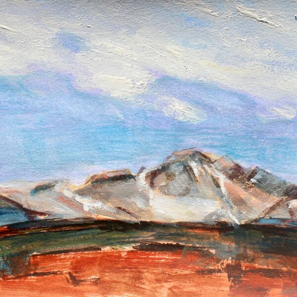 Watercolour painting Edgar Payne study mountains James P McAteer