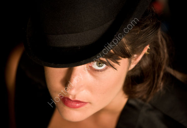 Lady in a Bowler Hat Close Up
