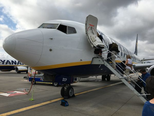 01 Boarding the plane at Stansted
