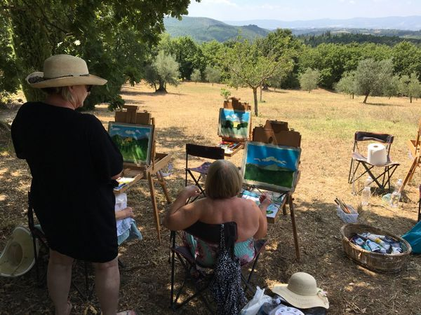 09 painting en plein air in the grounds of Arte Umbria