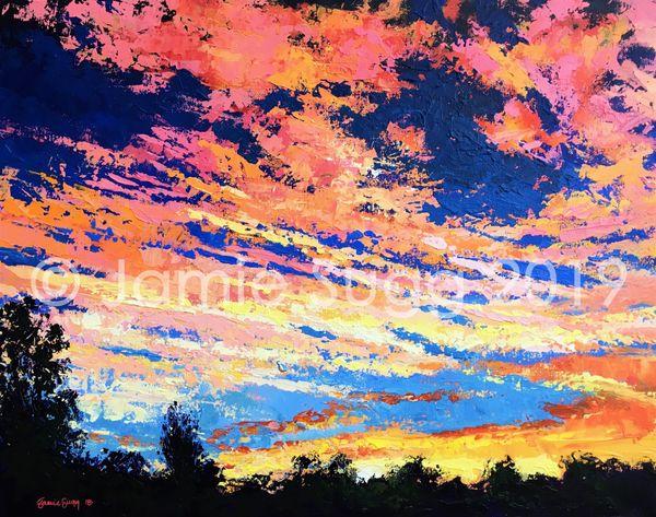 21. Sunset over Gutterbridge Woods SOLD