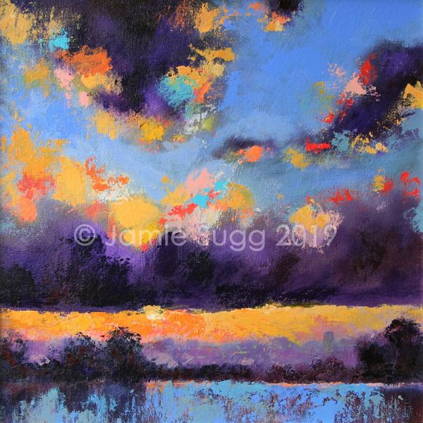 25. Misty Evening Sunset