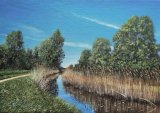 "Down by the lode at Wicken, 14""x10"""