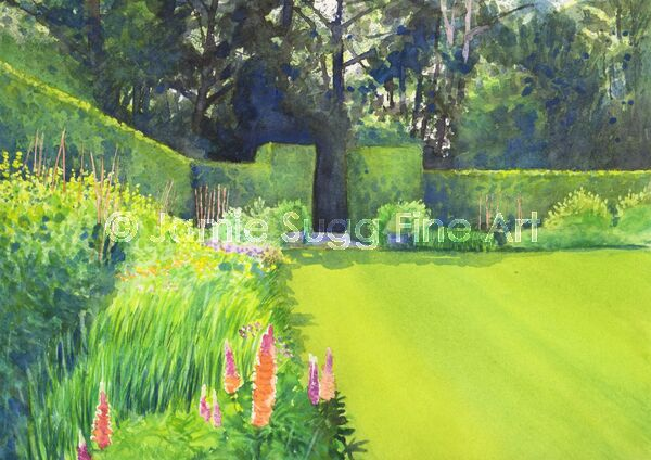 Anglesey Abbey Herbaceous border, 297mm x 210mm