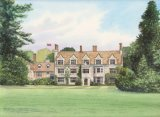 Anglesey Abbey, Watercolours on paper, 12x9
