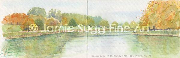Blickling Hall Lake Sketch