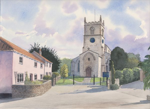 Bottisham, Watercolours on paper, 12x9
