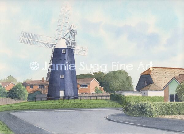 Burwell Windmill, 297mm x 210mm