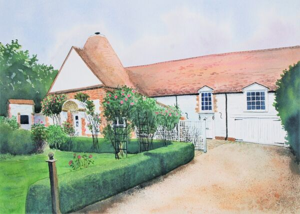 The Old Maltings, watercolour, 16in x 12in