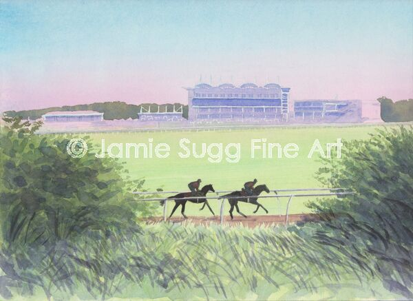 Early Morning Gallop at Newmarket Racecourse, 297mm x 210mm