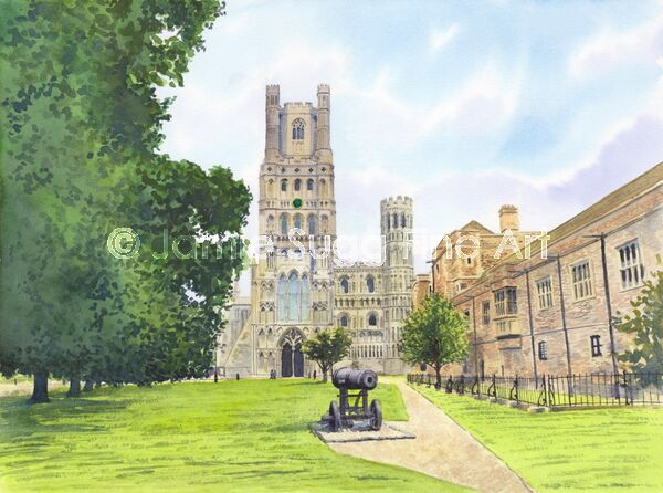 Ely Cathedral, 297mm x 210mm