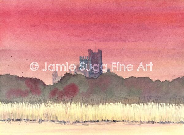 Ely Cathedral from River Great Ouse, 297mm x 210mm