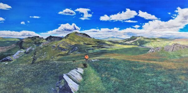 Welsh mountains commission, acrylics on canvas, 4ft x 2ft