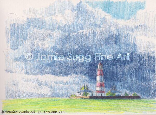 Happisburgh Lighthouse Coloured Pencil