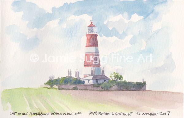 Happisburgh Lighthouse Sketch