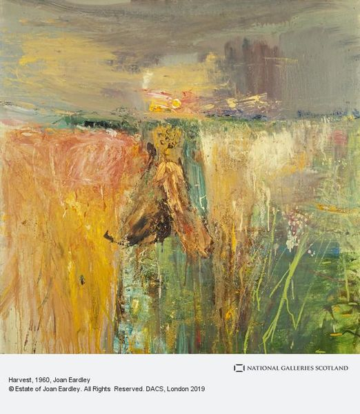 Harvest, oil and grit on hardboard, 1960
