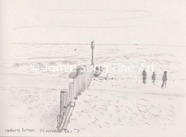 Horsey Beach Drawing