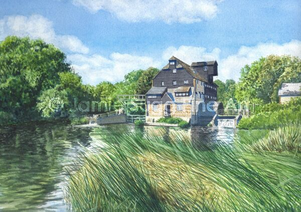 Houghton Mill, 297mm x 210mm