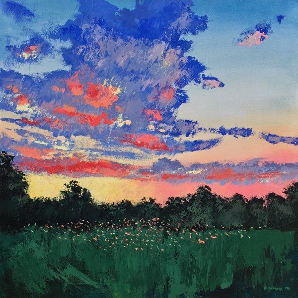 Gentle Evening, Acrylics on Canvas