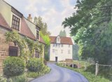 Lode Mill from Mill Close, Watercolours on paper, 12x9