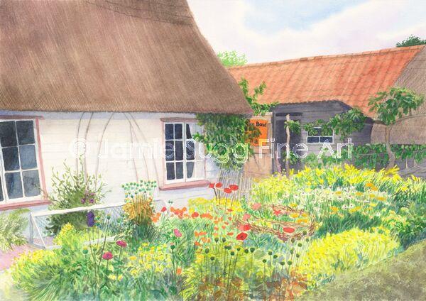 Old Fen Keepers Cottage, Wicken Fen, 297mm x 210mm