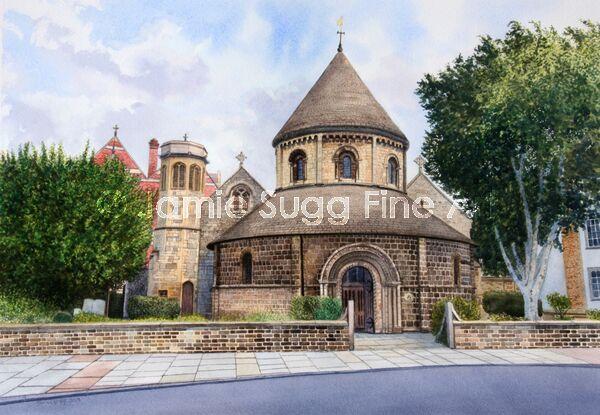 Round Church, Cambridge, A2 size