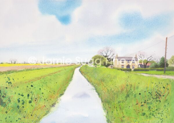 The view from Cow Bridge, 297mm x 210mm