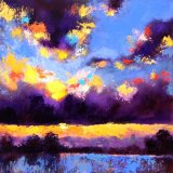 Misty Evening, Acrylics on Canvas SOLD