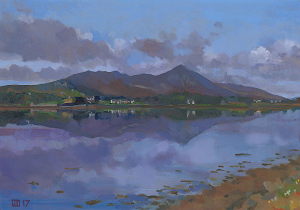 Croagh Patrick reflected on Clew Bay SOLD